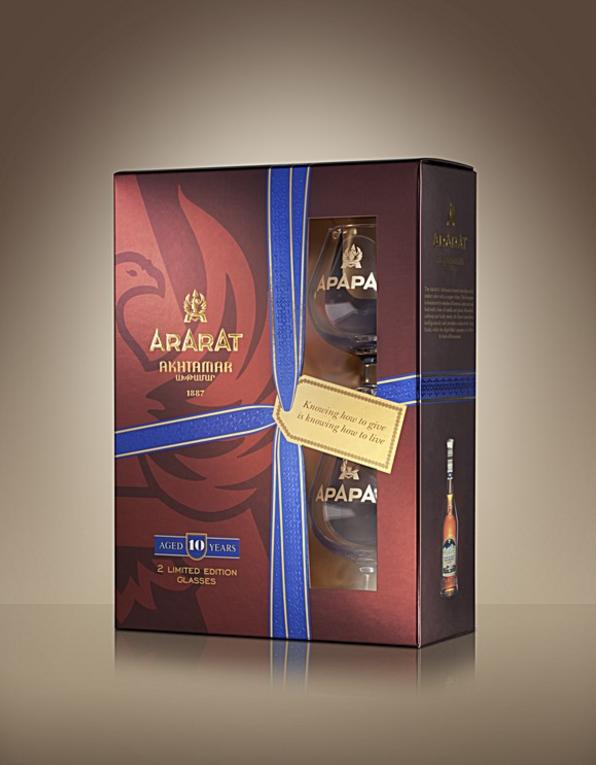 ARARAT Akhtamar 0.7L Cadeaubox met 2 glazen